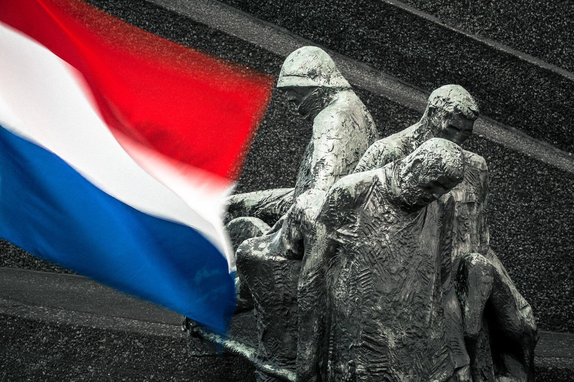 Monument De Boeg in Rotterdam op 4 mei