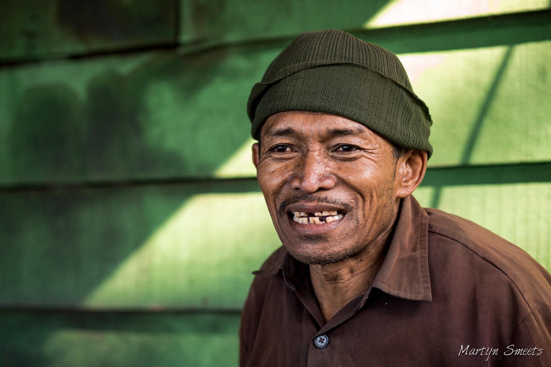 Portret mijnwerker Kawah Ijen
