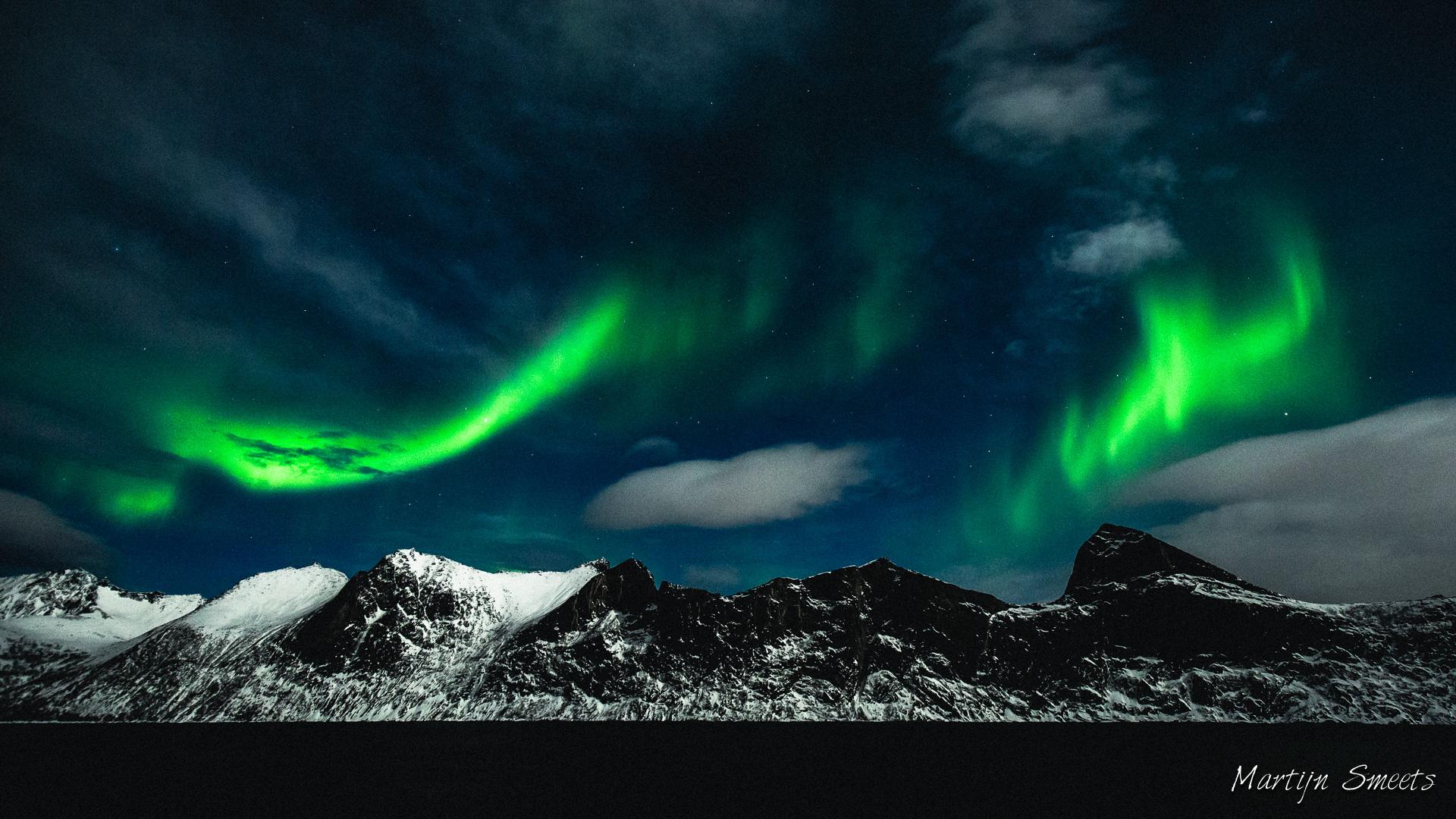 Noorderlicht boven Senja, Noorwegen