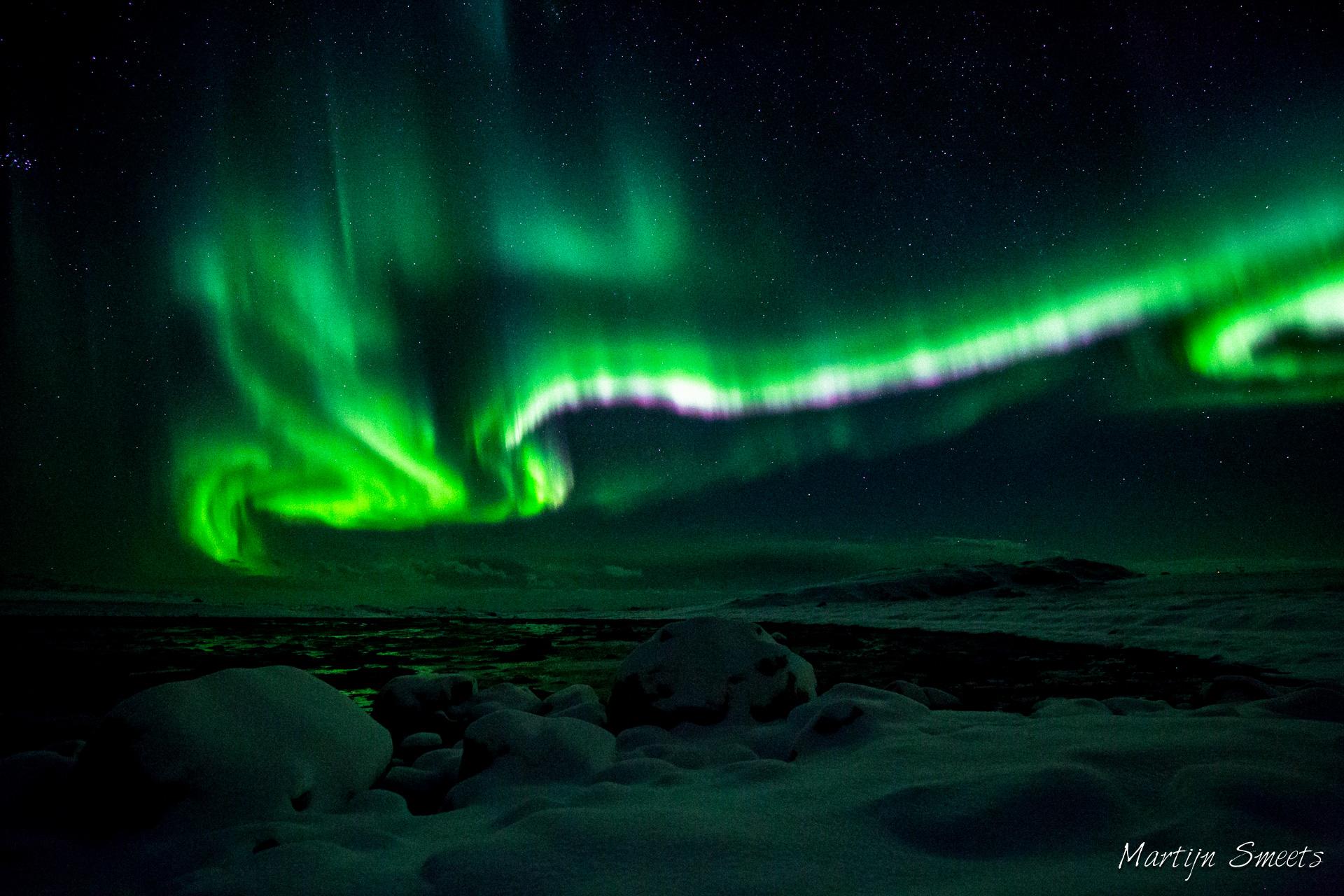 Noorderlicht op de Lofoten, Noorwegen