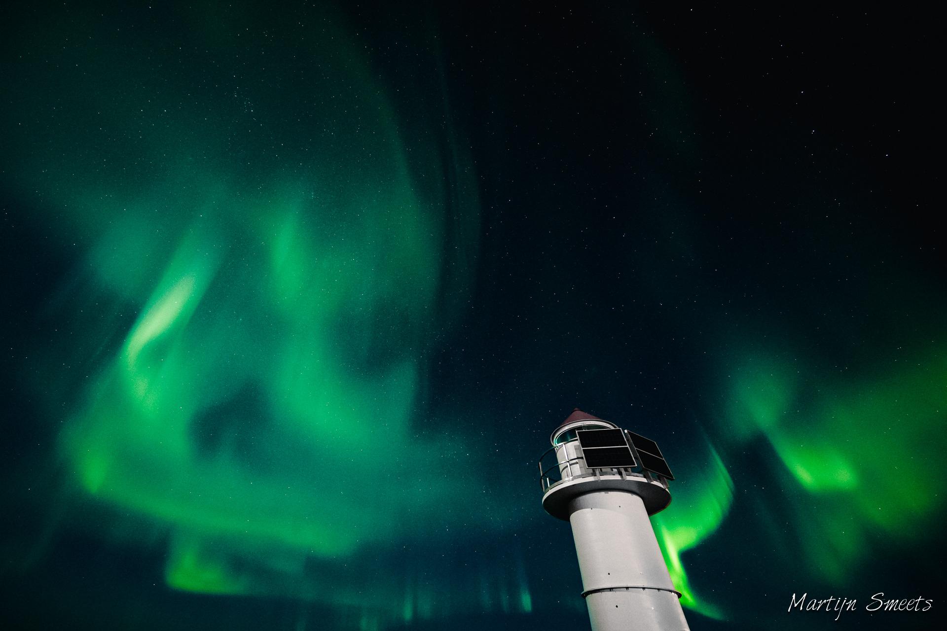 Noorderlicht in Nordmela, Noorwegen