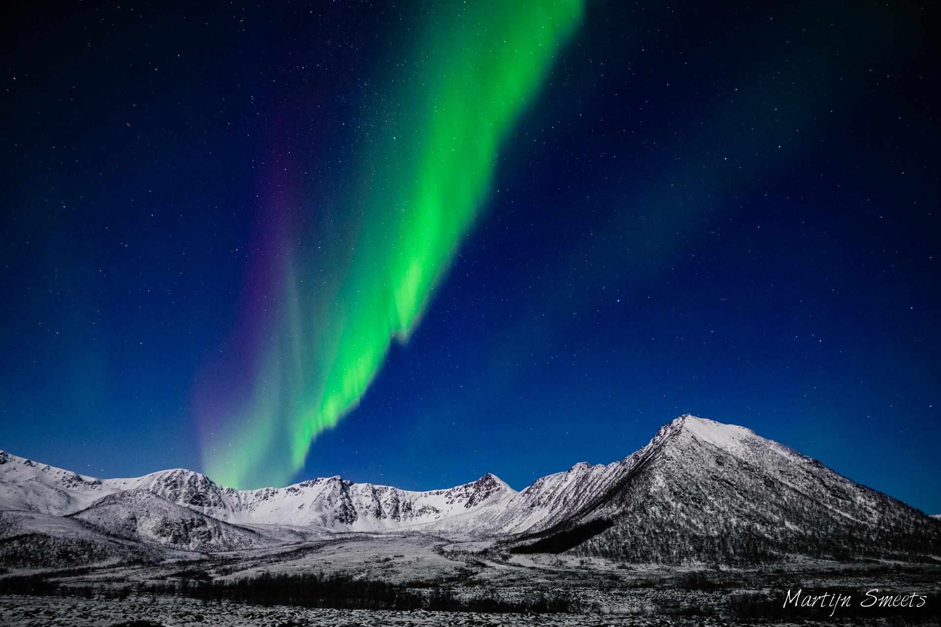 Noorderlicht op Andøya, Noorwegen