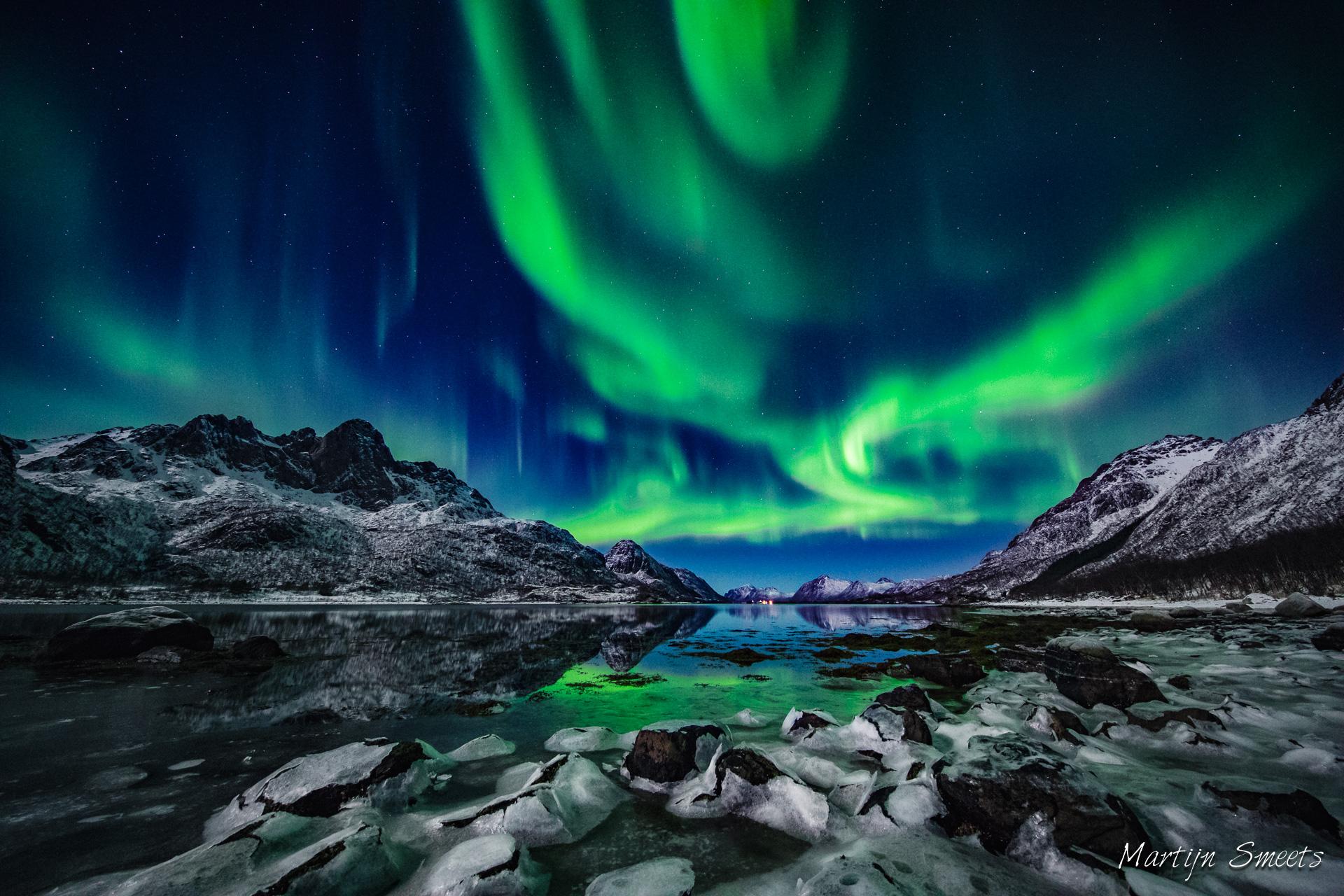 Noorderlicht op de Vesterålen, Noorwegen