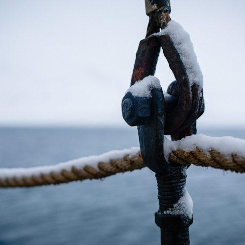 Detail van zeilschip Noorderlicht