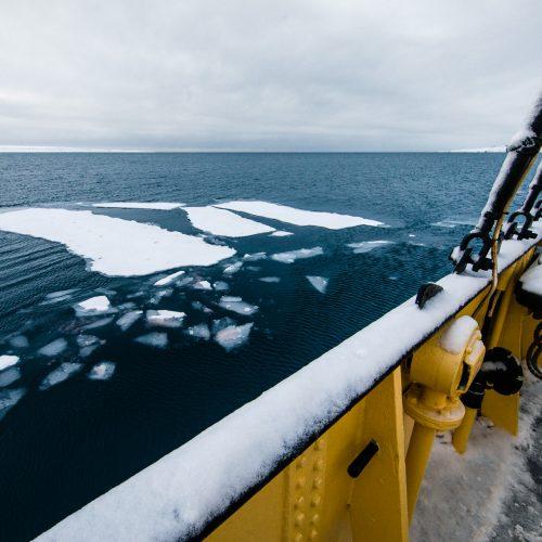 Zeilschip Noorderlicht in Ymerbukta, Spitsbergen