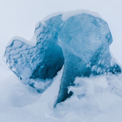 IJsformatie in Ymerbukta, Spitsbergen
