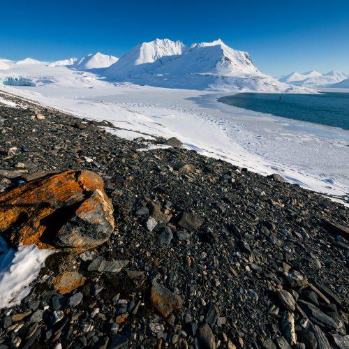 Uitzicht op de Gaffelbreen, Spitsbergen