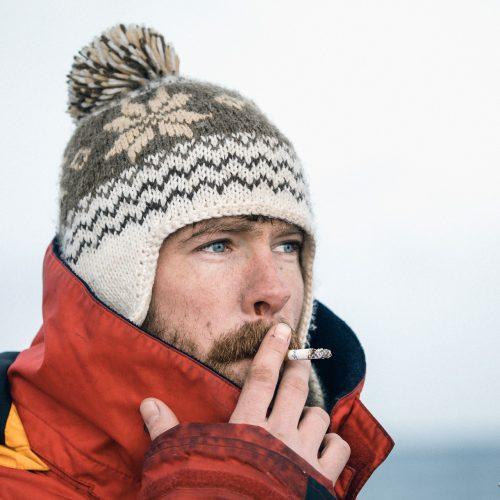Robert Wolting op zeilschip Noorderlicht